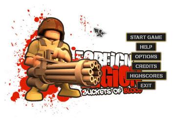 بازی اکشن یک سطل خون - Foreign Legion Buckets of Blood